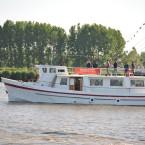 Débords de Loire avec le Belem
